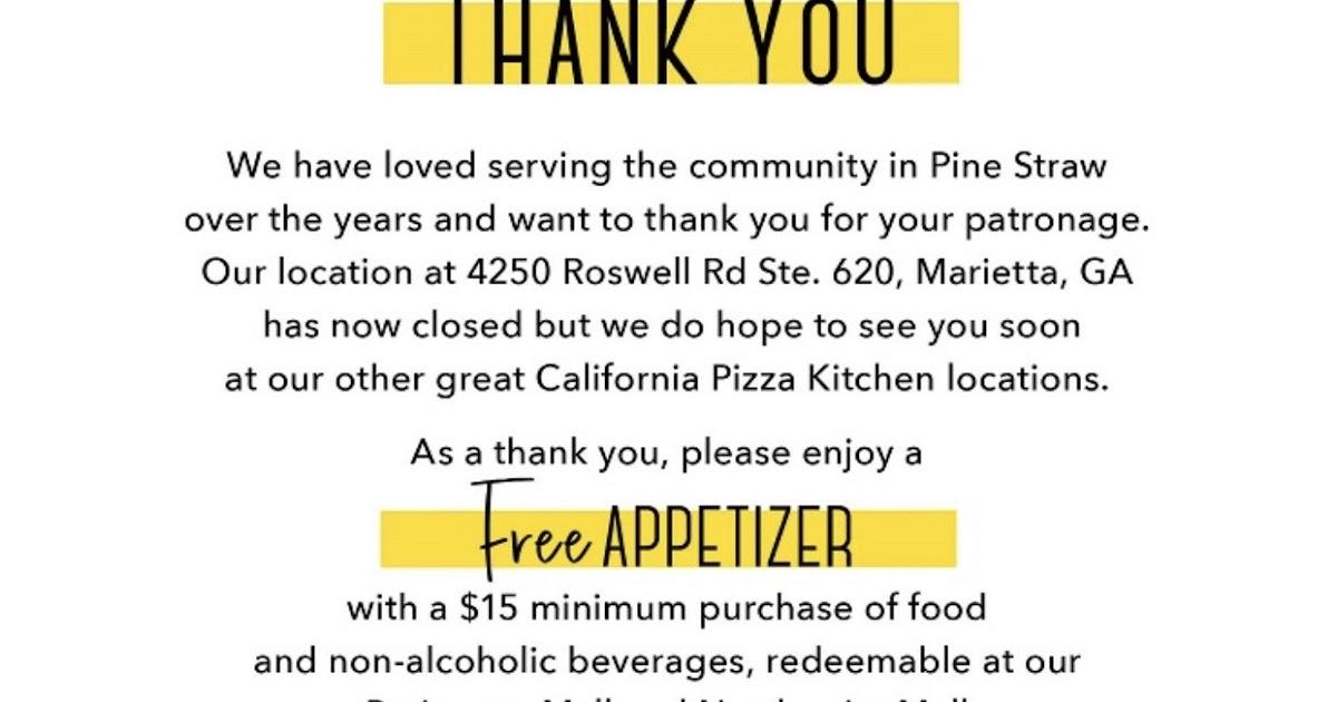 Tomorrow S News Today Atlanta Closure Alert Cpk Closes East Cobb Restaurant