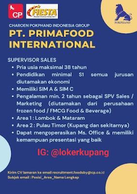 Lowongan Kerja PT Primafood Internasional Sebagai Supervisor Sales