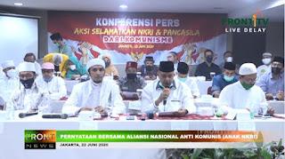 Aliansi Nasional Anti Komunis Mendesak Sidang Istimewa Pemberhentian Jokowi Apabila Terlibat