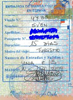 Equatorial Guinea Visa in Swiss Passport