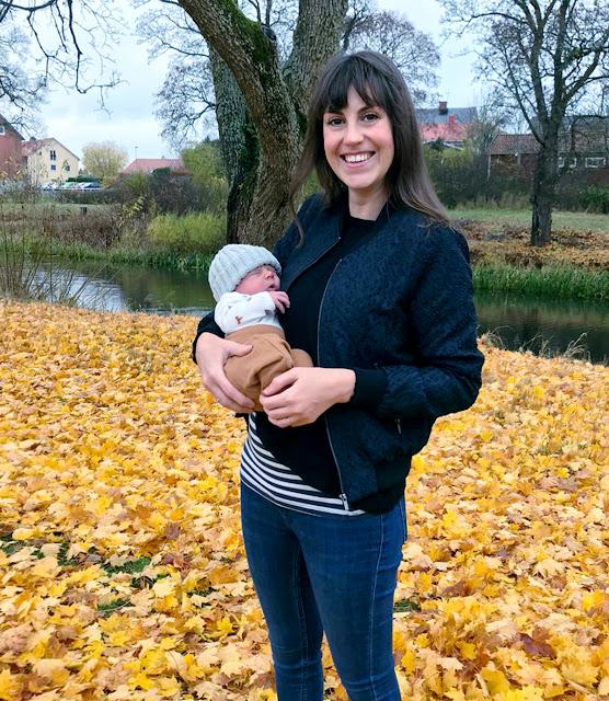 Anna Ravenscroft (Anna Alway) with Baby Arthur, Sweden