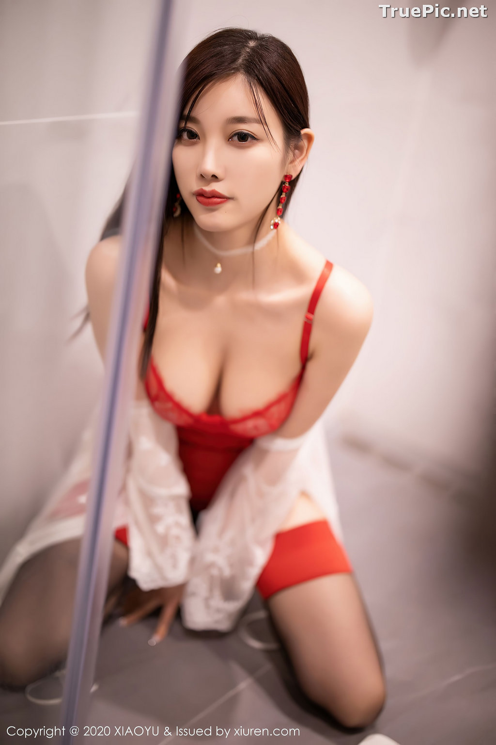 Image XiaoYu Vol.413 - Chinese Model - Yang Chen Chen (杨晨晨sugar)- Red Crystal-clear Lingerie - TruePic.net - Picture-14