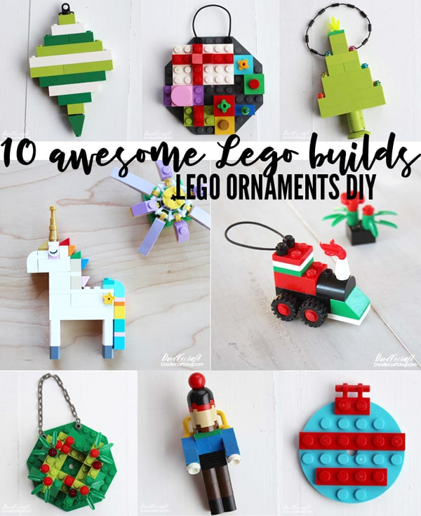 10 awesome Lego Ornaments to build to hang on the Christmas tree or decorate for the holidays