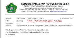 FINAL Surat Edaran Pelaksanaaan Asesmen Kompetensi Guru, Kepala, dan Pengawas Madrasah