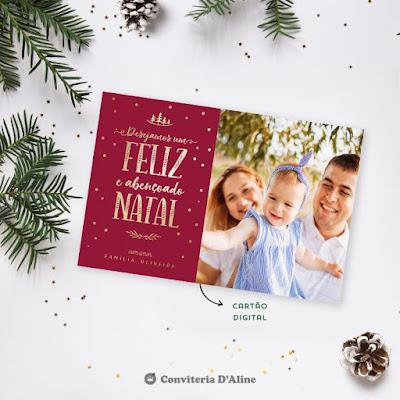 cartao natal presente boas festas familia