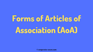 model form of articles of association