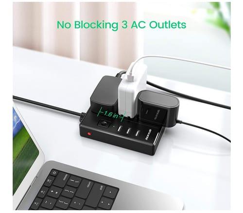 JACKYLED Portable Multi-Plug Power Strip