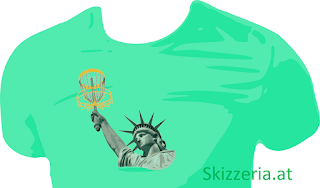 Lady Liberty plays Disc Golf Shirt
