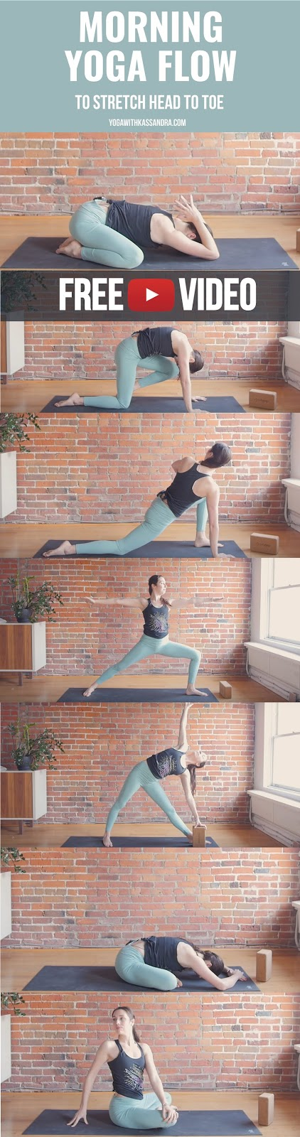 Your body loves a good stretch first thing in the morning! I can't say enough how big of an improvement I notice when I make time at the start of the day for 5-10 minutes of mobility on my mat.