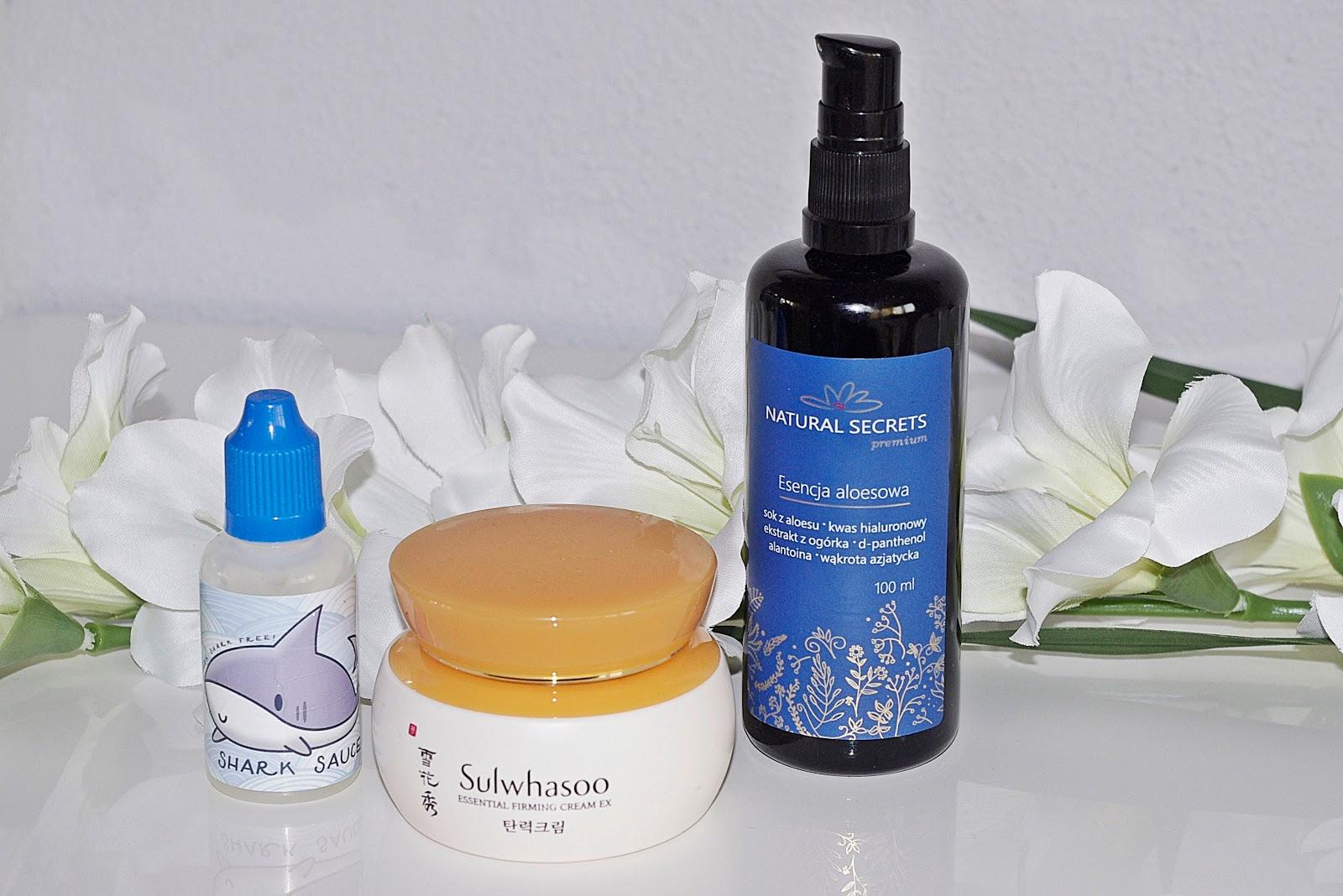 Holy Snail Shark Sauce Sulwhasoo Essential Firming Cream EX Esencja Aloesowa Natural Secrets