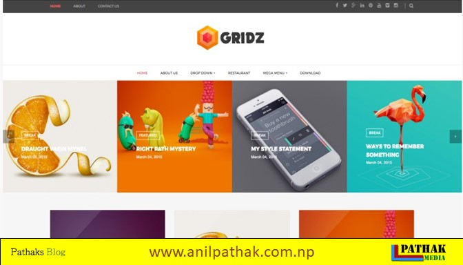 Photo Gallery Blogger Template - Gridz Blogger Template