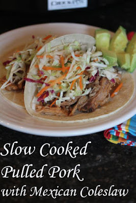 The BEST Slow Cooker Pork Tacos from Food Bloggers featured on SlowCookerFromScratch.com