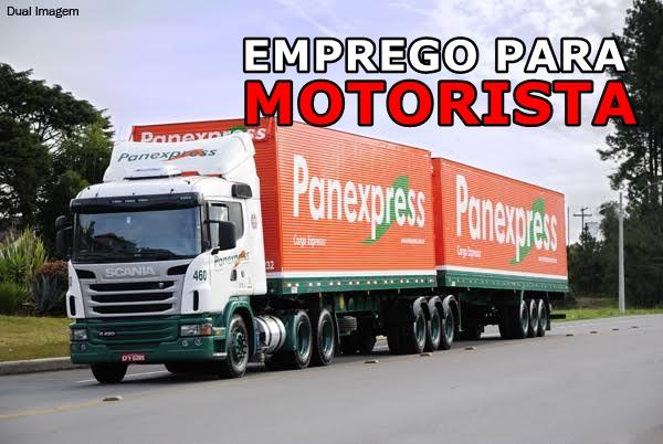 Transportadora Panex abre vagas para Motorista Categoria D