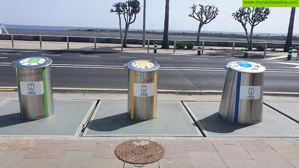 El Cabildo duplica la capacidad de recogida de residuos en la avenida Marítima con la instalación de contenedores soterrados