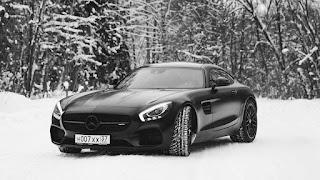 خلفيات سوداء، سيارات أبيض واسود