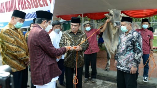 Menteri Agama Wakili Presiden Jokowi Serahkan Hewan Kurban ke Masjid Istiqlal