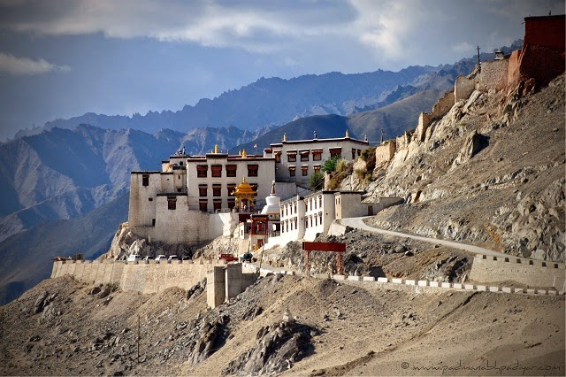 Spituk Gompa - Beautiful yet precariously placed monastery in Leh, Ladakh