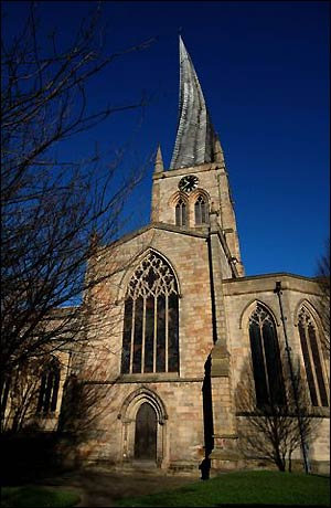 The Crooked Spire Church in Chesterfield