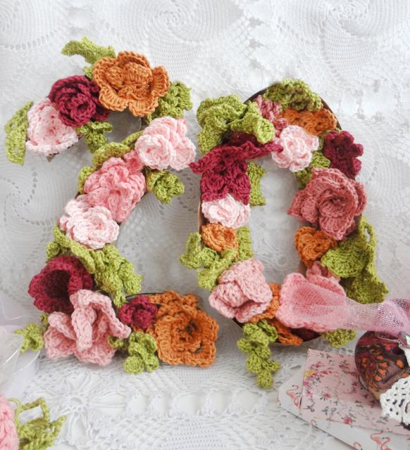 Crochet Flower Numbers – home decor