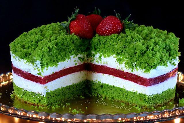 ciasto truskawkowo szpinakowe