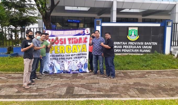 Aliansi Aktifis KP3B Lakukan Mosi Tidak Percaya Kepada Kinerja Kadis DAPUPR Banten