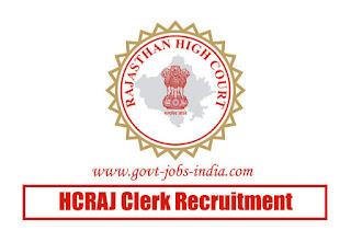 HCRAJ Clerk Recruitment 2020