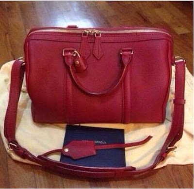 LV Louis Vuitton Sofia Coppola Leather Red