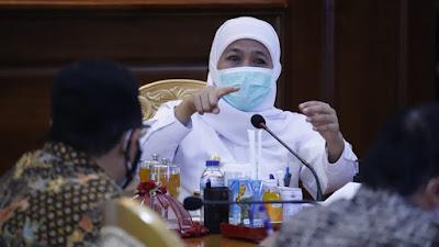 Kampanye Hari Pertama, Gubernur Khofifah Ingatkan Patuhi Protokol Kesehatan