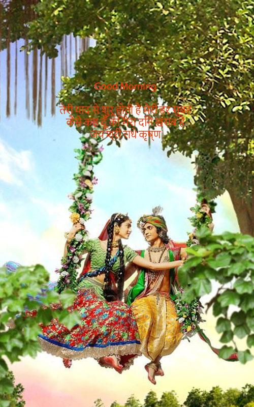 Good Morning Radha Krishna Status for WhatsApp (राधा कृष्ण व्हाट्सप्प स्टेटस )