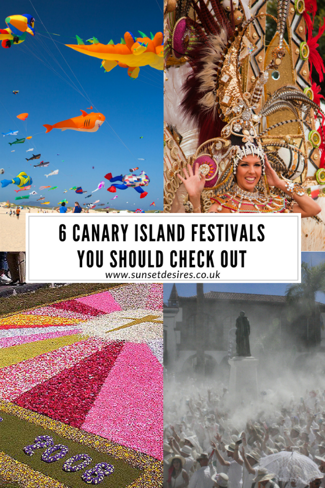 6 Canary Island Festivals You Should Check Out Banner with various festival photos.