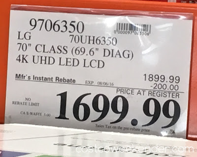 Costco 9706350 - Deal for the LG 70UH6350 tv at Costco