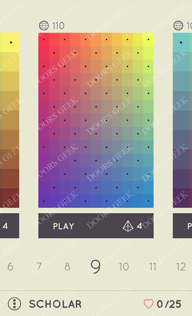 I Love Hue Scholar Level 9 Solution, Cheats, Walkthrough