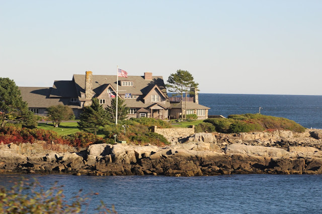 President Bush's home in Kennebunkport, Maine