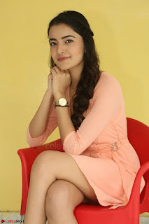 Rukshar Mir in a Peachy Deep Neck Short Dress 081.JPG
