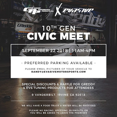 Sept. 22, 2018 - GPP X EVASIVE 10th Gen. Civic Meet