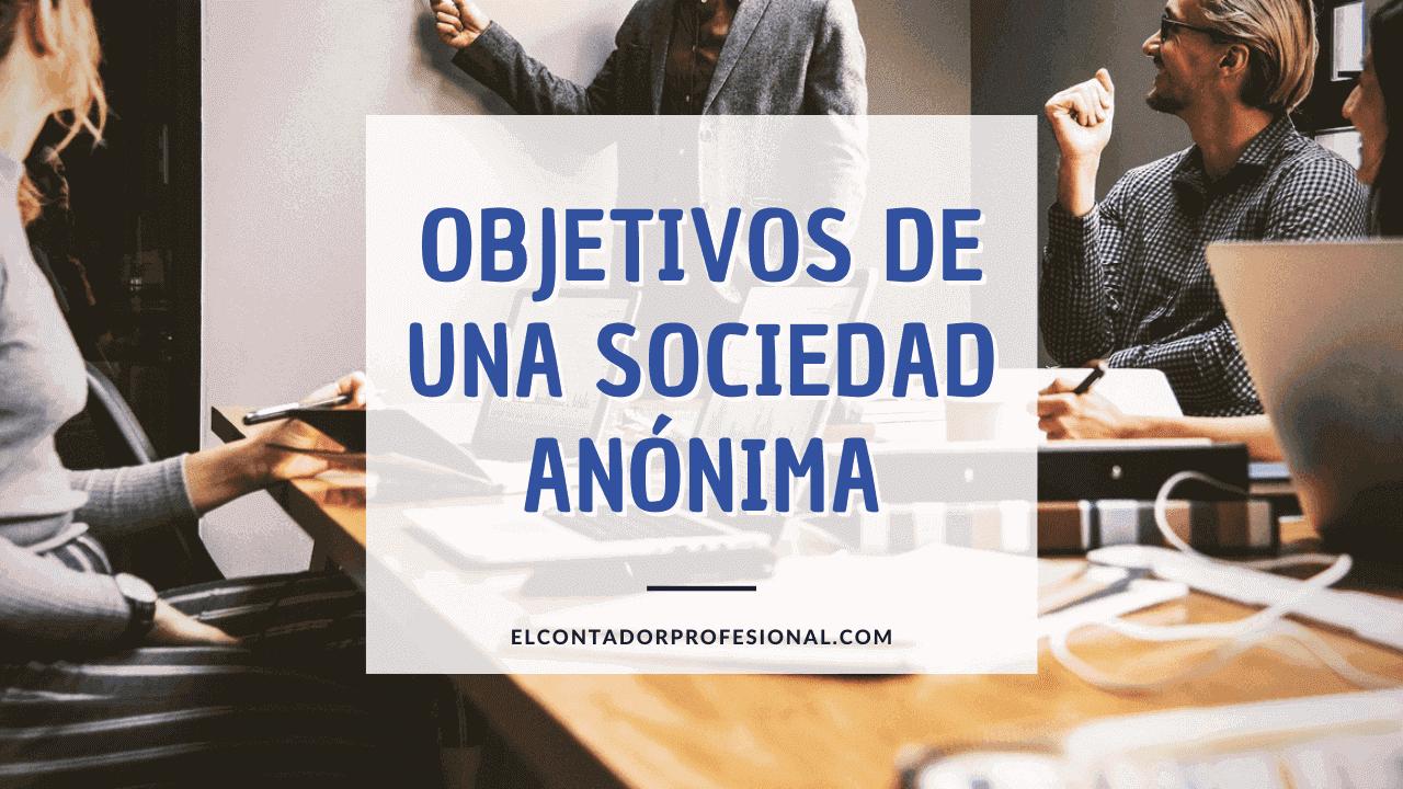 objetivos de una sociedad anonima