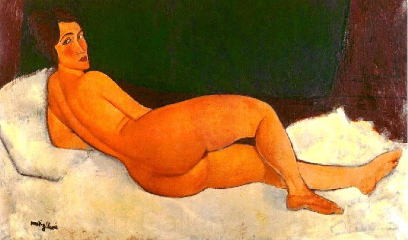 Nudez Olhando por Cima de seu Ombro Direito - Amedeo Modigliani e suas pricipais pinturas