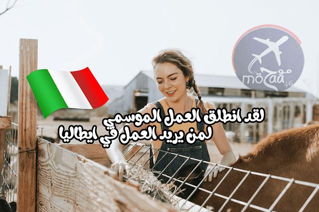 تأشيرة عمل إيطاليا للوظائف الموسمية – انطلاق التسجيلات لمن يريد العمل في ايطاليا 2019