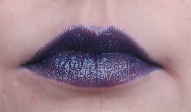 Photo of the Time Lipstick from the Urban Decay Alice Through the Looking Glass Collection on my lips