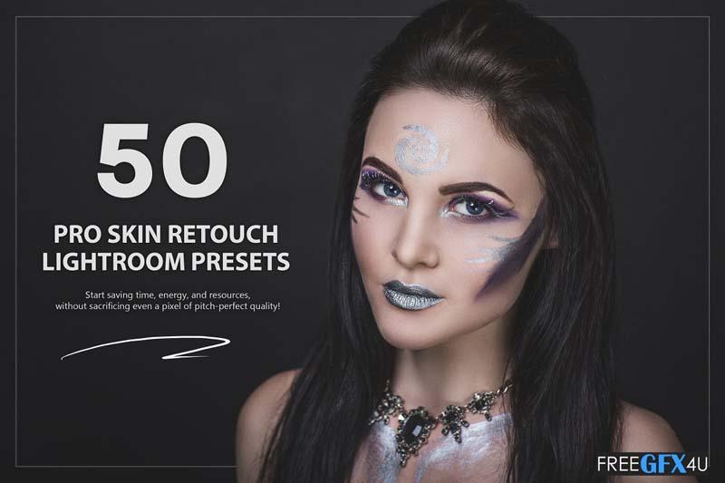 50 PRO Skin Retouch Lightroom Presets