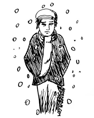 Dibujo original para Una historia de navidad en la fábrica de harina