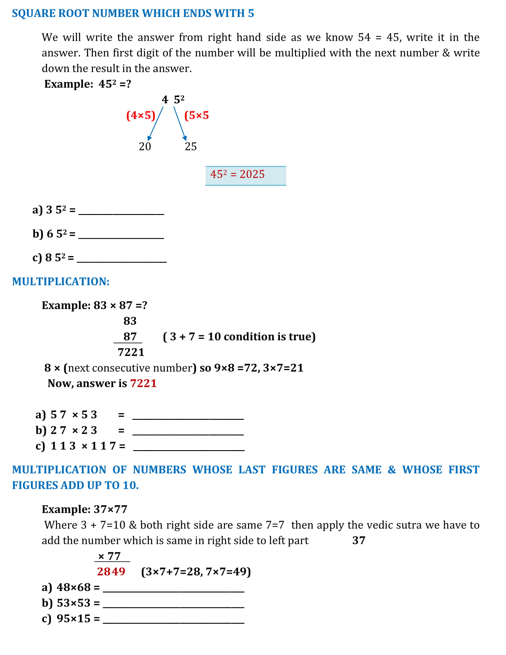 Worksheets Square Roots Of Numbers