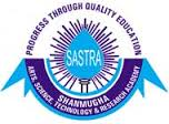 Sastra University Counselling 2014 Dates Procedure www.sastra.edu Rank List