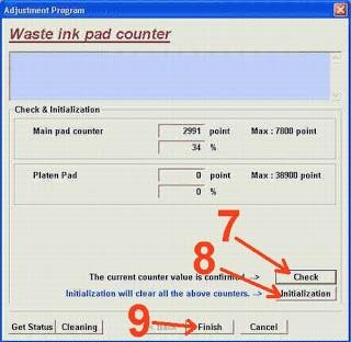 Langkah akhir reset printer epson stylus t11