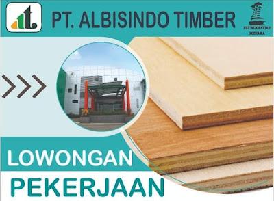 Lowongan Terbaru  PT Albisindo Timber Kudus 2021 PT. Albisindo Timber adalah sebuah perusahaan dengan latar belakang yang kuat dalam industri pengolahan kayu. Perusahaan ini dipilih sebagai fasilitas untuk manufaktur tukang kayu tradisional yang berpusat di Kabupaten Kudus dan terletak di kaki Gunung Muria Membutuhkan karyawan untuk bagian produksi dengan kualifikasi sebagai berikut