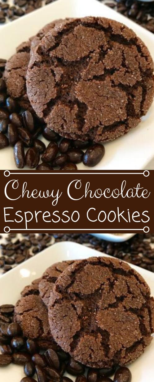 Chewy Chocolate Espresso Cookies #cookies #chocolate #dessert #recipes #pumpkin