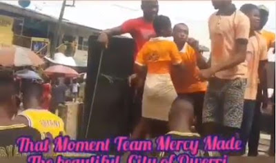 #BBNaija: Fans Shutdown Owerri Road As They Campaign For Mercy To Win BBN 2019