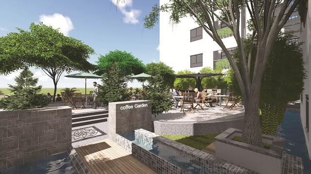 Vườn cafe trên cao tại dự án Ecolife Tây Hồ