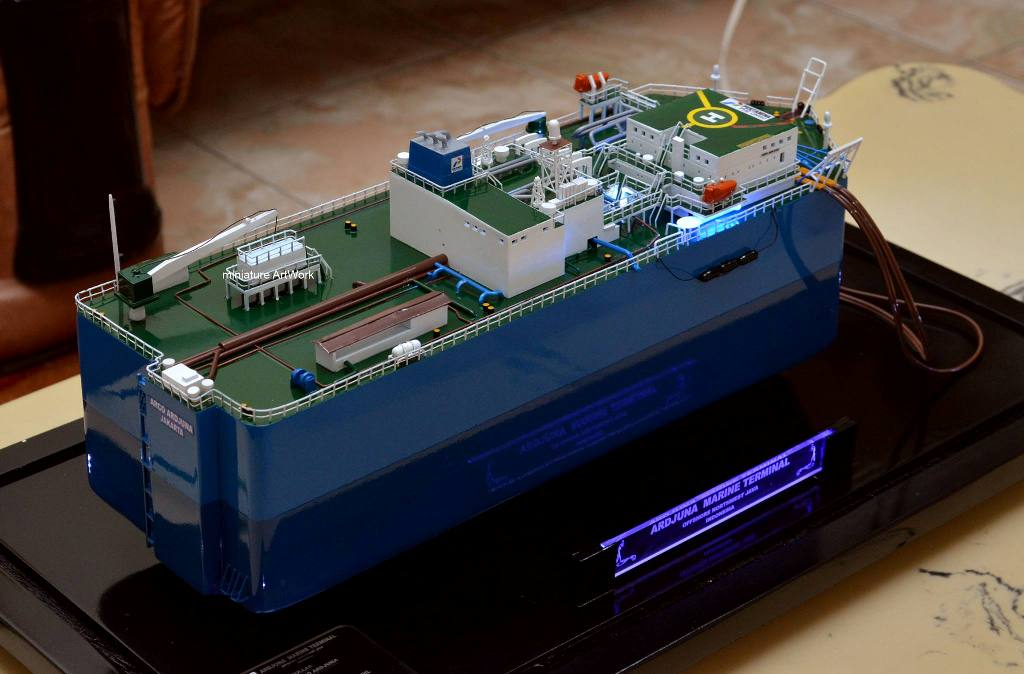 produsen miniatur kapal tanker fso arco ardjuna rumpun artwork terpercaya
