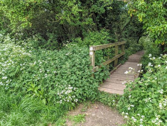 The footbridge on Anstey footpath 6